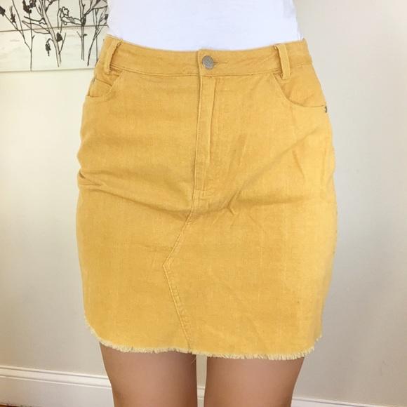 fd2969c08 Skylar + Madison Skirts   Mustard Corduroy Mini Skirt   Poshmark